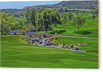 Wood Print featuring the painting Del Mar Country Club by Michael Pickett