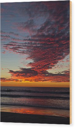 Del Mar Sunset 16 Wood Print