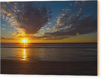 Del Mar Sunset 7 Wood Print
