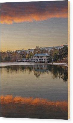 Delaware Park Marcy Casino Autumn Sunrise Wood Print
