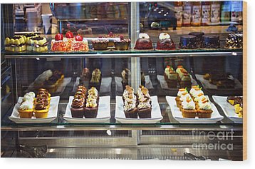 Delectable Desserts Wood Print