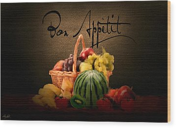 Delectable Sight Wood Print by Lourry Legarde