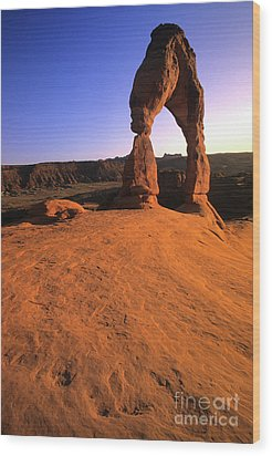 Delicate Arch Wood Print by Bob Christopher