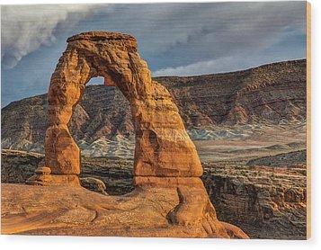 Delicate Arch Wood Print by Jeff Burton