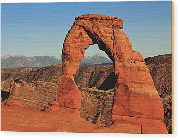 Delicate Arch Wood Print by Karma Boyer