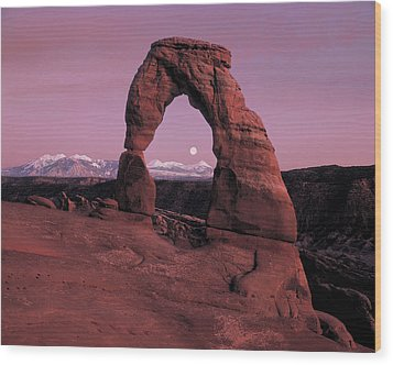 Delicate Arch Wood Print by Leland D Howard