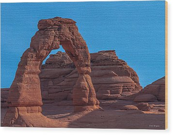 Delicate Arch Wood Print by Tim Bryan