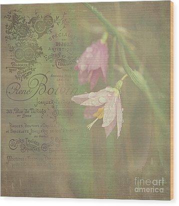 Delicate Blooms Wood Print