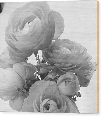Delicate Ranunculus Wood Print