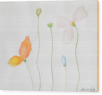 Wood Print featuring the painting Delicate  by Reina Resto