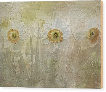 Delightful Daffodils Wood Print by Diane Schuster