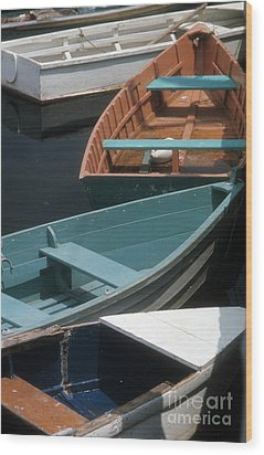 Wood Print featuring the photograph Delightful Dinghies by ELDavis Photography