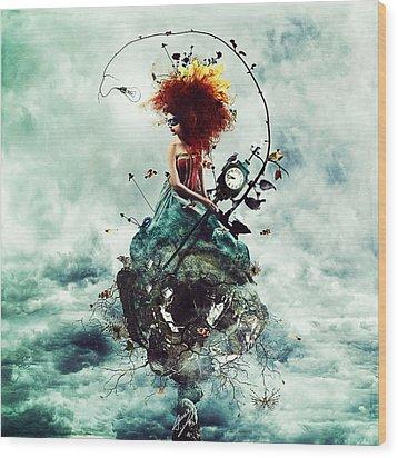 Delirium Wood Print by Mario Sanchez Nevado