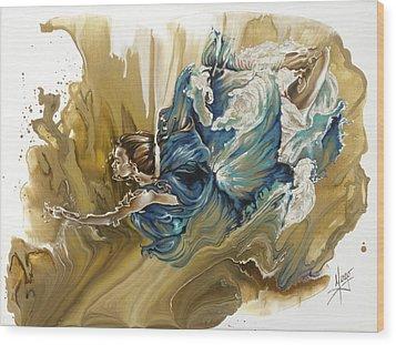 Deliver Wood Print by Karina Llergo
