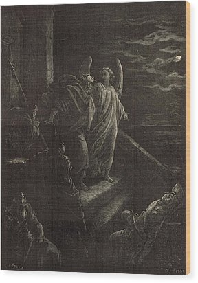 Deliverence Of St. Peter Wood Print by Antique Engravings