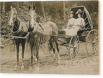 Delivering The Mail 1907 Wood Print by Floyd Russell