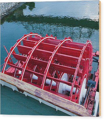 Delta Queen Paddle Wheel Wood Print by Kay Pickens