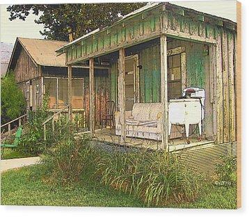 Delta Sharecropper Cabin - All The Conveniences Wood Print