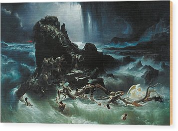 Deluge Wood Print by Francis Danby
