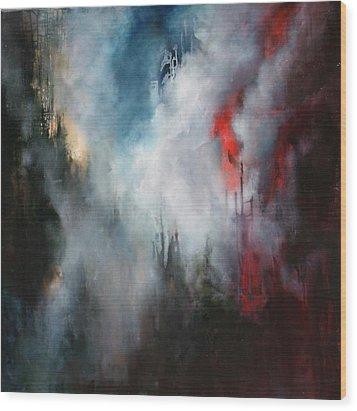 Delusions Of  Granduer Wood Print by Lissa Bockrath