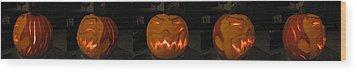 Demented Mister Ullman Pumpkin 2 Wood Print by Shawn Dall