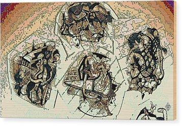 Wood Print featuring the drawing Demolitia by Doug Petersen