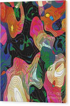 Demons Wood Print by Klara Acel