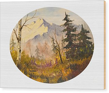 Denali Autumn Wood Print