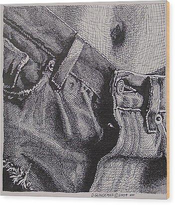 Denim Wood Print by Denis Gloudeman