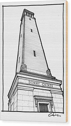 Denny Chimes Wood Print by Calvin Durham