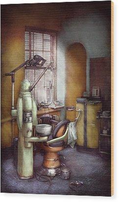 Dentist - Dental Office Circa 1940's Wood Print by Mike Savad