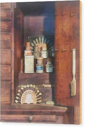 Dentist - Supplies For Making Dentures Wood Print by Susan Savad