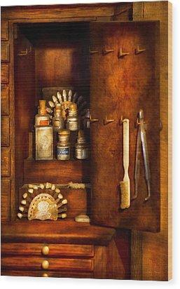 Dentist - The Dental Cabinet Wood Print by Mike Savad