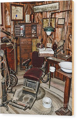 Dentist - The Dentist Chair Wood Print by Paul Ward