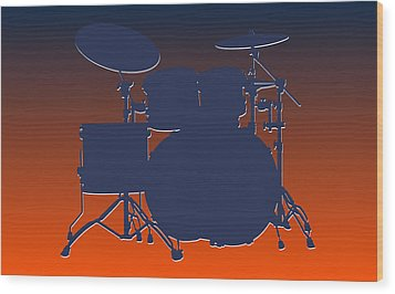 Denver Broncos Drum Set Wood Print by Joe Hamilton