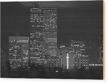 Denver Downtown  Wood Print