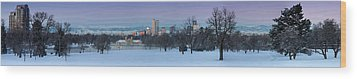 Wood Print featuring the photograph Denver Skyline From City Park by Kristal Kraft