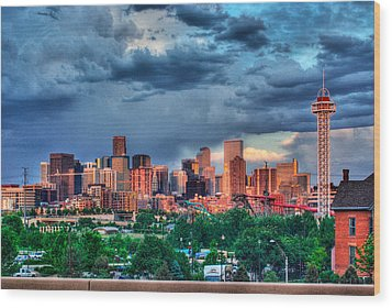 Wood Print featuring the photograph Denver Skyline by Teri D Brown