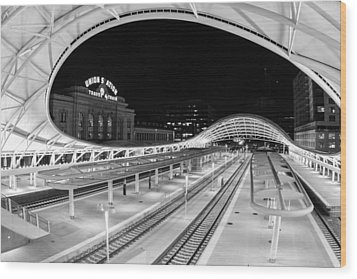 Denver's Union Station Wood Print