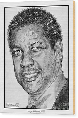 Denzel Washington In 2009 Wood Print by J McCombie