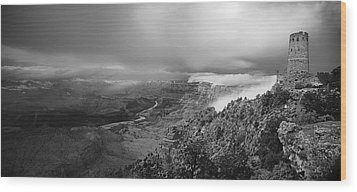 Departing Storm Grand Canyon At Desert View Wood Print