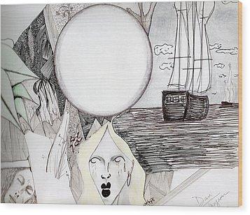 Departure Wood Print by Dan Twyman