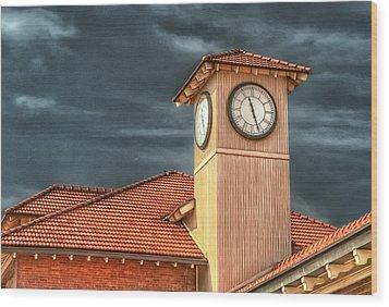 Depot Time Wood Print by Brenda Bryant