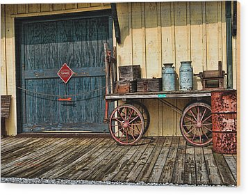 Wood Print featuring the photograph Depot Wagon by Kenny Francis