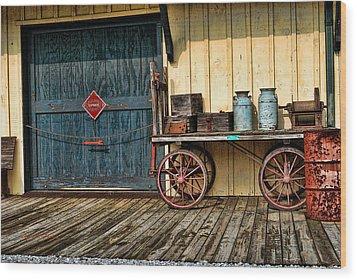 Depot Wagon Wood Print by Kenny Francis
