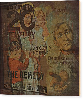 Depression In The 20th Century - 2 Wood Print by Jeff Burgess