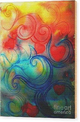 Depths Of His Love Wood Print by Hazel Holland