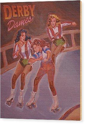 Derby Dames Wood Print by Shawn Shea