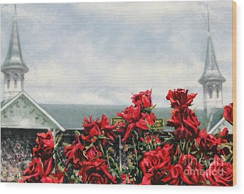 Derby Day Wood Print by Thomas Allen Pauly