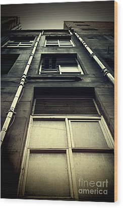 Wood Print featuring the photograph Derelict Building by Craig B